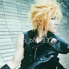 406 Final Fantasy VII Cloud Strife Short  Blonde Anime Cosplay Hair Wig