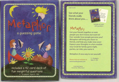 Metaphor Unique Original Party Educational Therapy Family Guessing Game Cards
