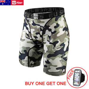 Mens-Compression-Tights-Skins-Shorts-Running-Gym-Base-Layer-Fitness-Bottoms