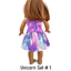 Unicorn-Top-amp-Skirt-18-034-Doll-Clothes-fits-American-Girl-dolls