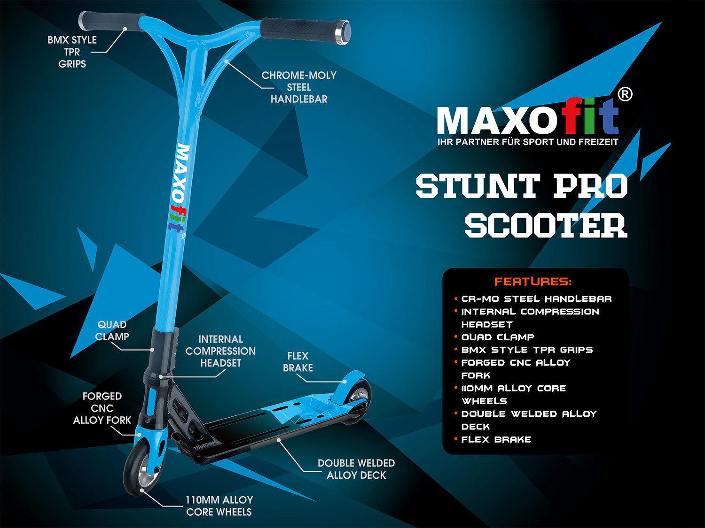 MAXOfit® sehr City-Roller Stuntscooter Blauline, sehr MAXOfit® stabil, bis 100 kg a2376f