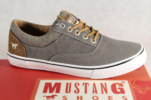 Mustang Schnürschuhe Sneaker Halbschuhe khaki Stoff Textil  NEU!