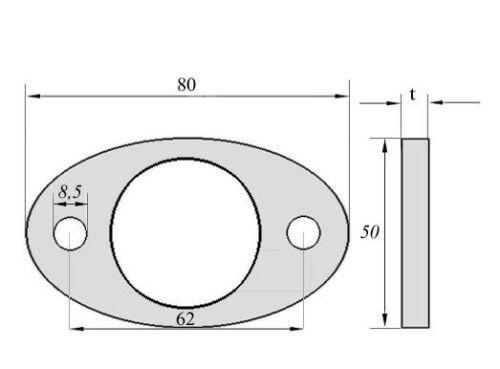 Ankerplatte V2A gelasert Edelstahl Ronde Oval