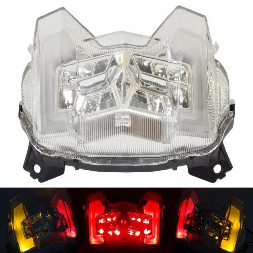 Chrome LED Intégrés feu arrière clignotant Clair for 2017-2019 YAMAHA FZ09 MT-09