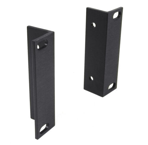 TWO New 3.5 2 RU Black Anodized Ears For UREI, DIY 19 Rack Mount Projects. RA
