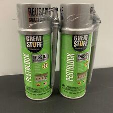 2 Great Stuff Pestblock Grey Insulating Foam Sealant 12 Oz Can Caulk Lot Of 2