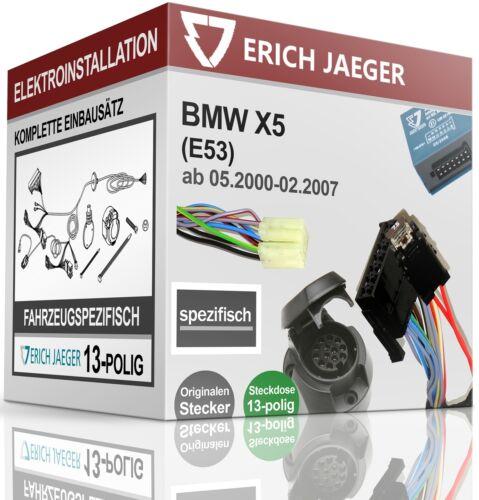 E-Jeu 13 broches spécifique au véhicule pour bmw x5 e53 à partir de 05.2000-02.2007