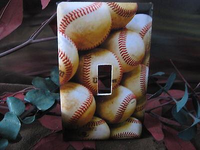 Baseballs Baseballs and More Baseballs Light Switch Wall Plate Cover #BB02