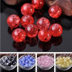 12mm-Czech-Charms-Crystal-Glass-Cracked-Loose-Spacer-Round-Beads-Craft-Making