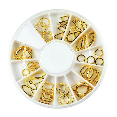 Various Gems 3D Acrylic Nail Art Tips DIY Decoration Glitter Rhinestones Wheel