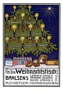 Originalwerbung Vor 1950 Sammeln & Seltenes Bahlsen Weihnachten Xl Reklame 1910 Leipniz Pangani Christbau Geschenke Kunst