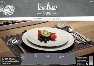 Tavolinas-Papier-Tischset-Fruechte-schiefer-24-Blatt-individuell-beschriftbar