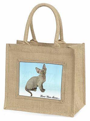 Devon Rex Kätzchen 'Liebe, die Sie Mama' Große Natürliche Jute-einkaufstasche Ch