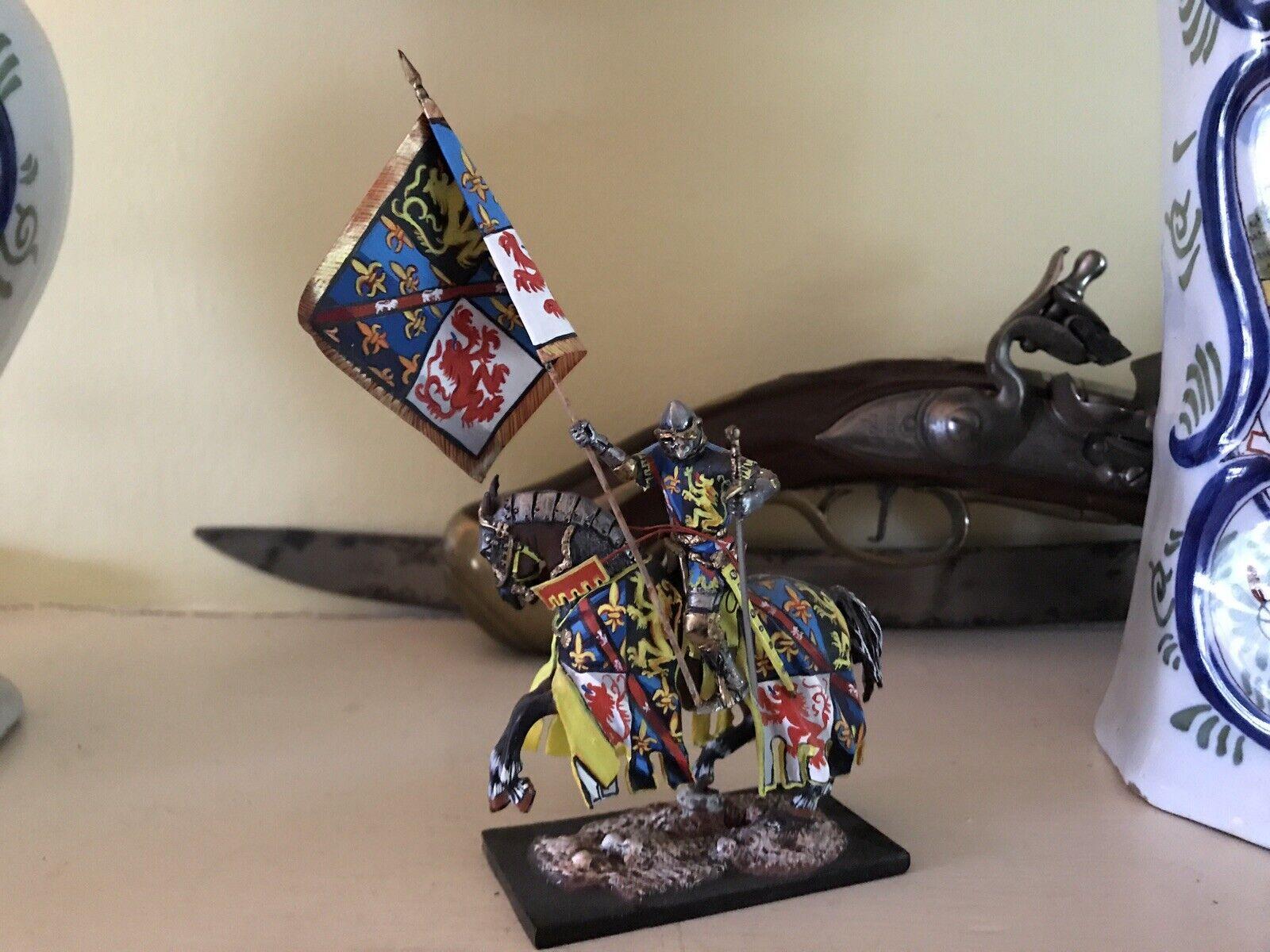 St. Petersburg Mounted Knight met Standard Quarterded heraldru-Exquisite--Mint