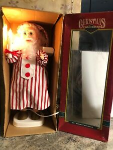 New-Matrix-24-034-Animated-Motion-Santa-Claus-Candle-Pajama-Sleepy-Christmas-Light