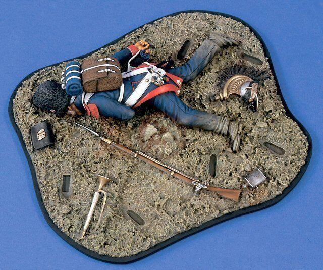 Verlinden 120mm (1 16)  The Guard's Last Stand  Waterloo Vignette Base w Fg 1450