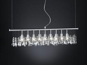 lustre lampe suspension plafonnier argent luminaire moderne lustre cristal 5286 ebay. Black Bedroom Furniture Sets. Home Design Ideas