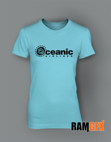 LADIES OCEANIC AIRLINES LOST TV SERIES BNWT T SHIRT NEW SIZE 8-16