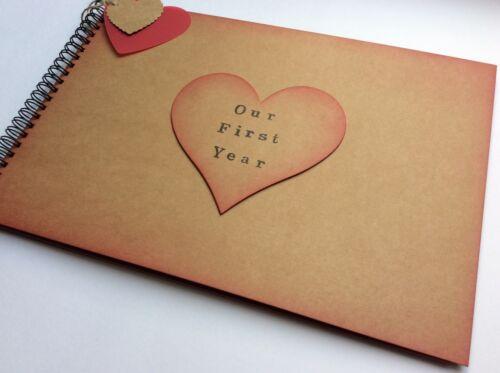 1st Primer Año Aniversario Regalo para un novio libro memoria A4 nuestro primer año