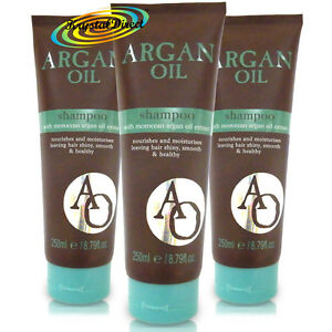 3x Argan Oil Shampoo 250ml Moroccan Argan Oil Extract Shiny Smooth Healthy Hair