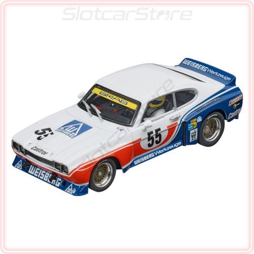 """Carrera Evolution 27629 Ford Capri RS 3100 /""""No.55/"""" DRM 1975 1:32 Auto Slotcar"""