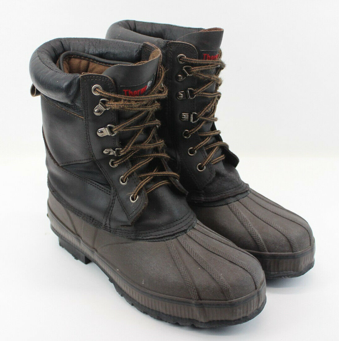 Men's Thermolite Winter Boots Brown Size 10 Soft Outer Cover Very Comfortable