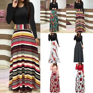 New-Women-Floral-Maxi-Dress-Prom-Evening-Party-Summer-Beach-Casual-Long-Sundress