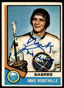 1974-75 O-Pee-Chee #159 Mike Robitaille Signed Autographed Card