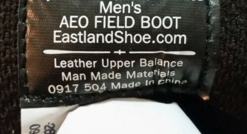 THE AMERICAN EAGLE FIELD LEATHER UPPER  MEN/'S  BOOTS   SIZE 13 COLOR BLACK
