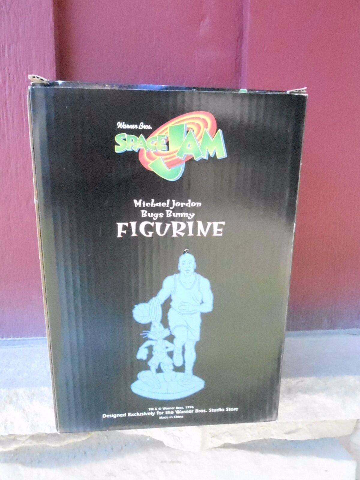 1996 nunca quitado de la Caja Warner Bros Jam Micheal Jordan Bugs Space Bunny Estatuilla (S10)