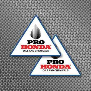 2x Honda Pro Oils Sticker Decal Vintage Superbike MotoGP, Motocross, XR80, CR250