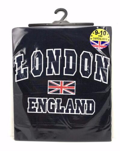 Kids Children/'s London England 100/% Cotton T-Shirt 1-10 Years