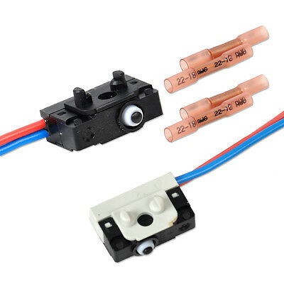 2x Left & Right Kit Door Lock Micro Switch for VW Passt B5 Golf 4 MK4 3BD998785