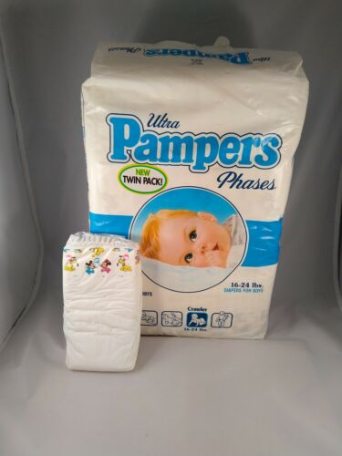 Size M 12-24lbs Blue Vintage Pampers Phases Disney Babies Boys Diapers