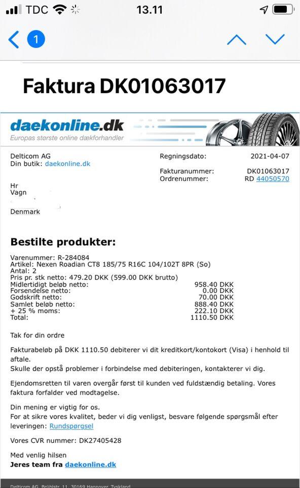 Anden dæktype, Nexen, 185 / 75 / R16