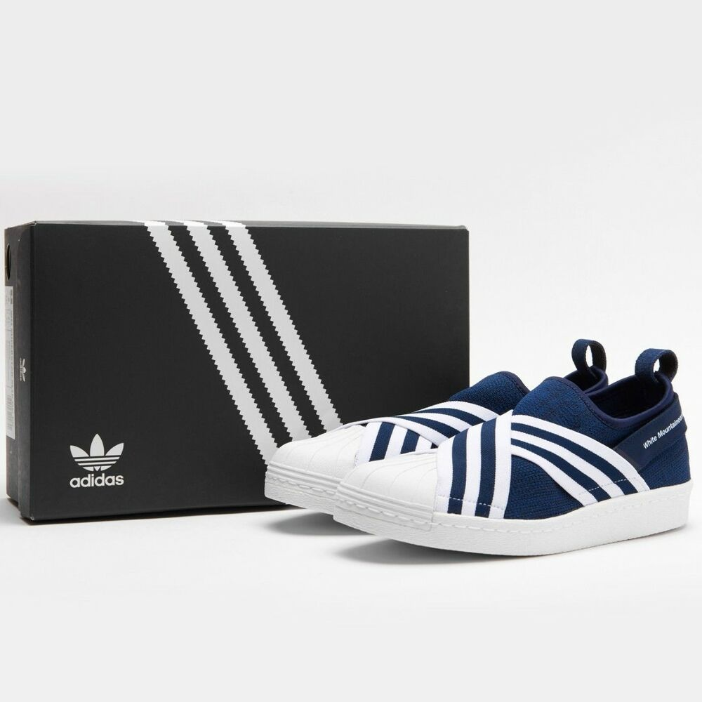 [ADIDAS X blanc MOUNTAINEERING] SUPERSTAR SLIP ON PK NAVY BY2879 US 9 CM 27