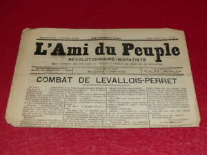 PRESSE-XIXe-MAXIME-LISBONNE-L-039-AMI-DU-PEUPLE-10-2e-S-JEU-5-MARS-1885-Rare
