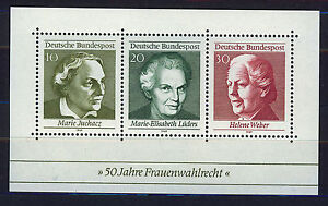 ALEMANIA-RFA-WEST-GERMANY-1969-MNH-SC-1007-Universal-Women-s-Suffrage-50th