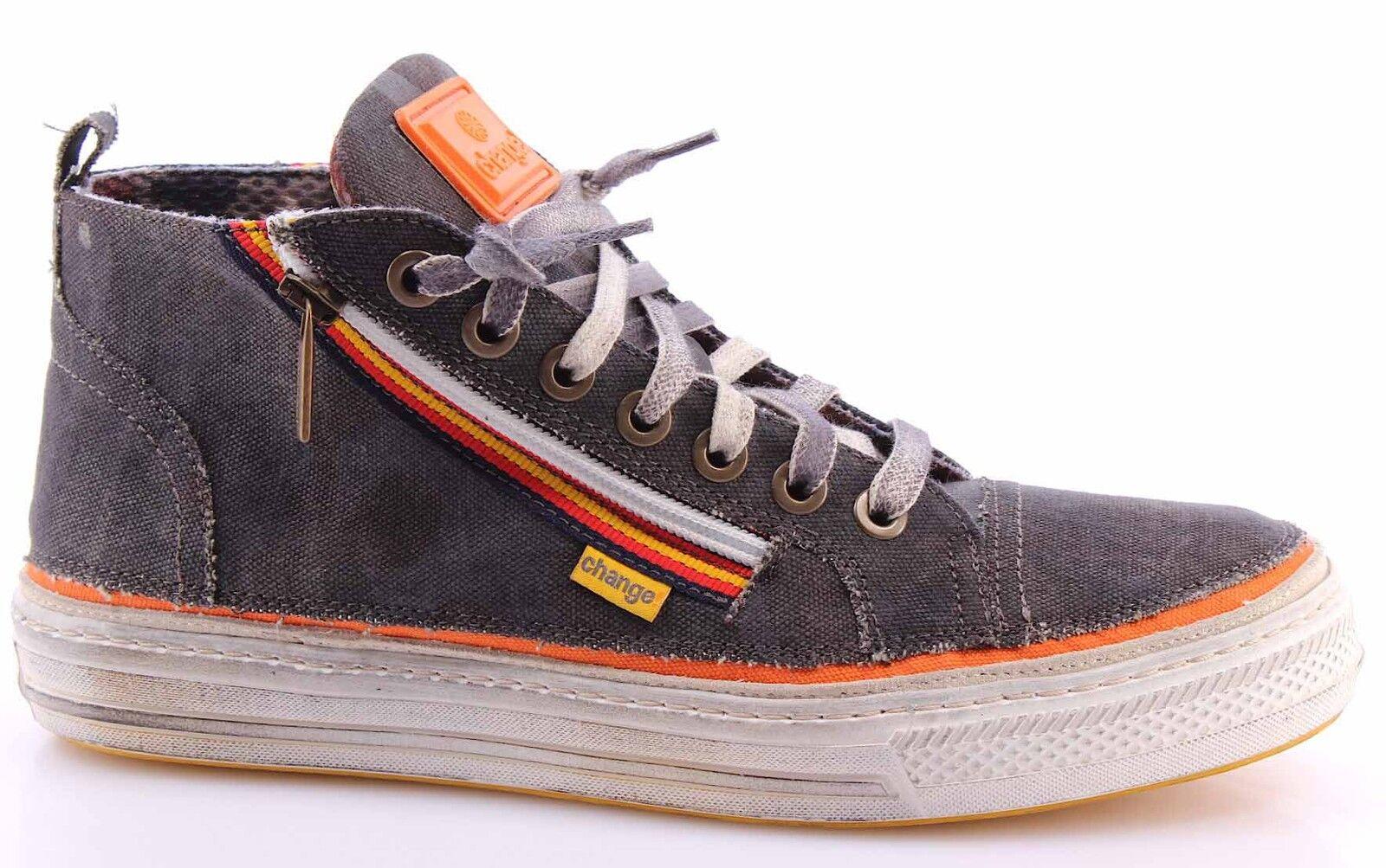 Scarpe Sneakers Alte Uomo CHANGE! DoorsM In Canvas3 Tessuto Arancio Made In DoorsM Italy 5b6480