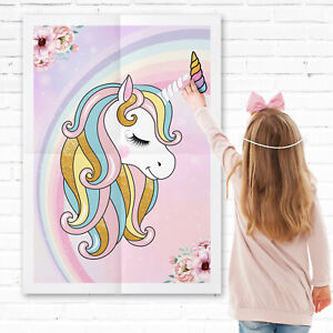 Pin-the-Horn-on-the-Unicorn-Games-Pin-the-Tail-Game-Multi-Player-Party-Game