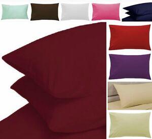 New Polycotton Pillowcase Pair Oxford