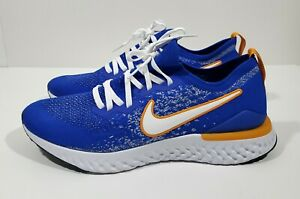 Nike Epic React Flyknit 2 Blue Ribbon Sports Mens Running Shoes Blue Size 10.5