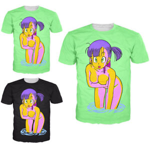 bd0003e764 Cartoon Bulma Dragon Ball Print 3D T-Shirt Women Men Fashion Casual ...