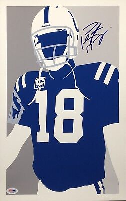 Framed Peyton Manning Sports Illustrated Autograph Replica Print So Good So Soon 8x10 Print
