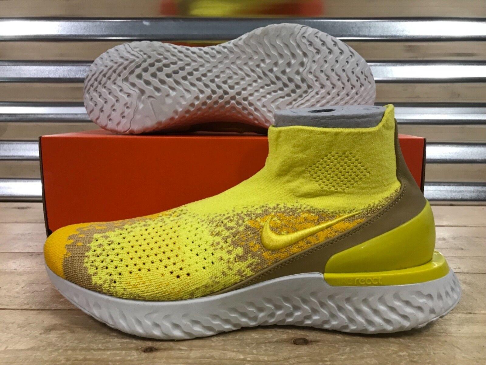 Nike Rise React Flyknit Limited Running schuhe Sonic Gelb Weiß SZ (BQ6176-707)