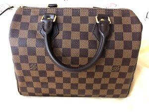 7fd1c94628d2 Image is loading Authentic-Louis-Vuitton-Speedy-25-Damier-Ebene