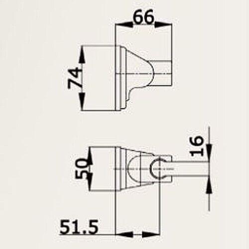 Duschset 1,5 Meter Schlauch Brausehalterung Handbrausen-Set mit: Handbrause