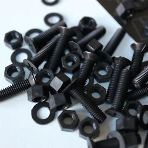 20-x-Vite-a-testa-svasata-Bulloni-e-dadi-Nero-M5-x-20mm-Acrilica