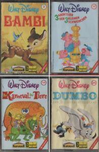 4-x-Hoerspielkassette-Walt-Disney-Folge-3-11-19-25-Klassiker-fuer-Jung-amp-Alt
