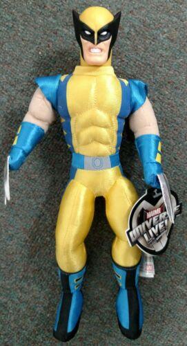 """Nouveau Marvel 2001 univers Live 11/"""" Peluche//Vinyle Wolverine Toy-Feld Entertainment"""